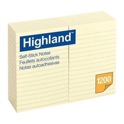 3M Highland autocollantes notes, 4x6 '', lign e, 12 / paquet 108373