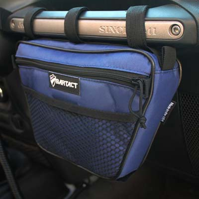 Bartact XXDHBFT Jeep Wrangler Dash Bag Passenger Grab Handle Dash Bag Fabric Navy