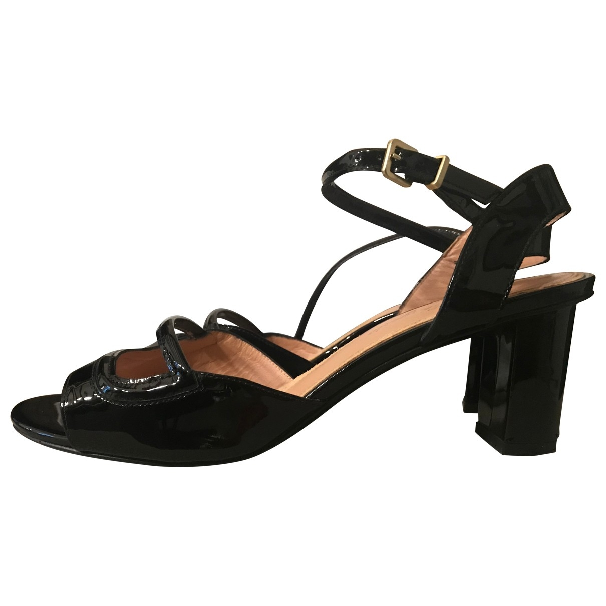 Robert Clergerie \N Black Patent leather Sandals for Women 38.5 EU