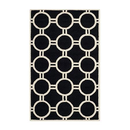 Safavieh Burke Geometric Hand-Tufted Wool Rug, One Size , Black