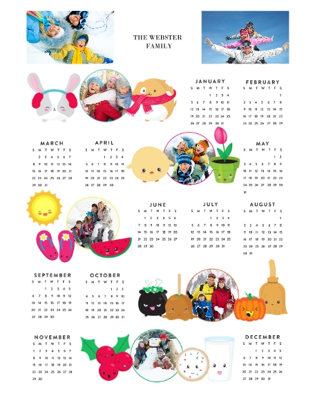 Calendar 16x20 Poster(s), Board, Home Décor -Joy Emoji