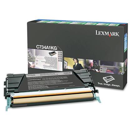 Lexmark C734A1KG cartouche de toner du programme retour originale noire