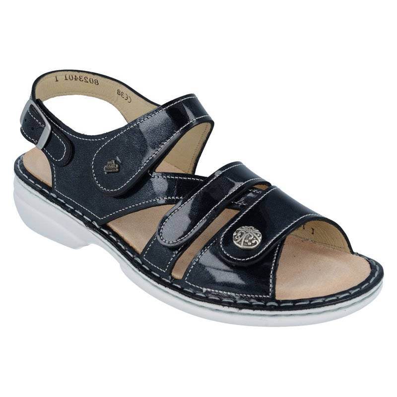 Finn Comfort Gomera Atlantic Patent Leather Soft Footbed 39