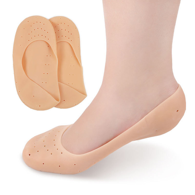 Women Men Full-feet Silicone Foot Heel Protection Dry Cracking Set Moisturizing Socks
