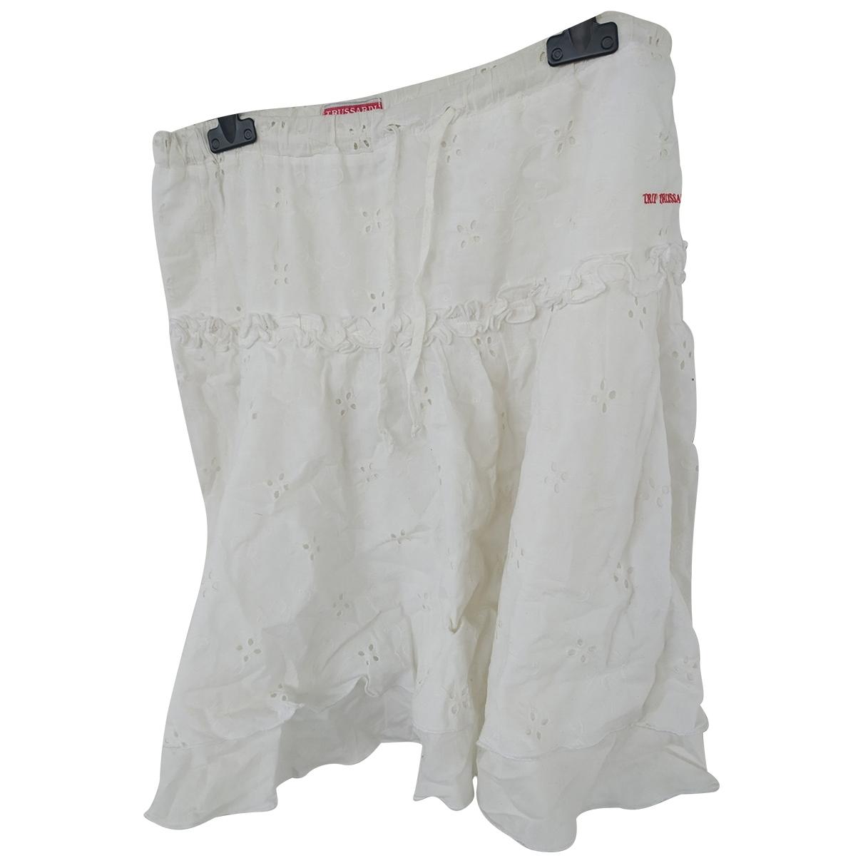 Trussardi \N White Cotton skirt for Kids 14 years - S FR