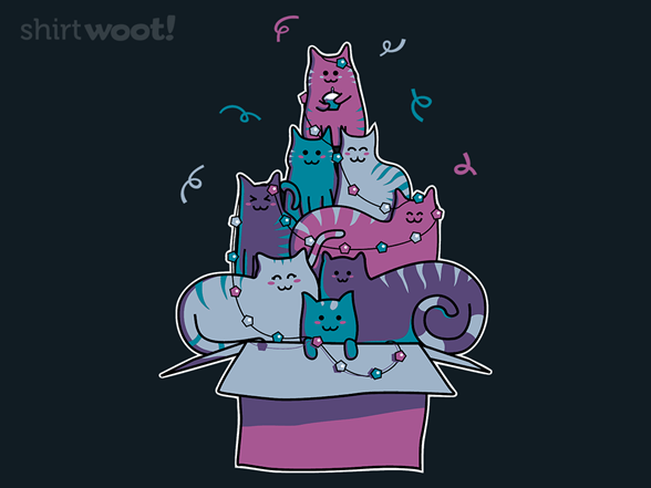 Pile Of Party Cats With Pentagon Lights T Shirt