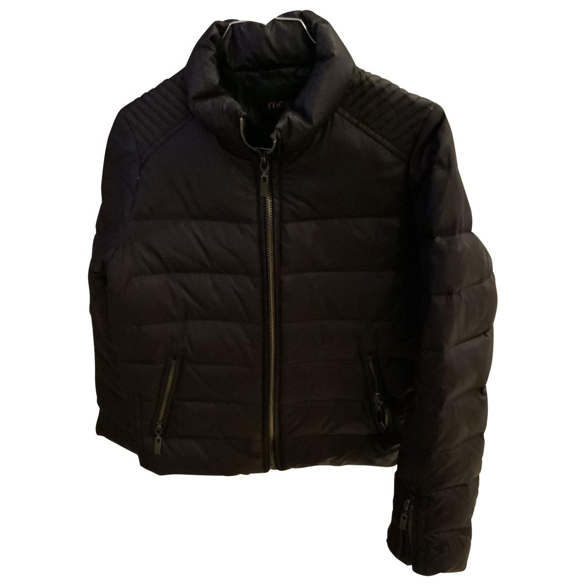 Maje \N Navy Leather jacket for Women 36 FR