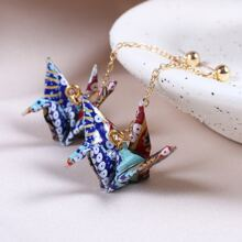 Thousand Paper Crane Drop Earrings