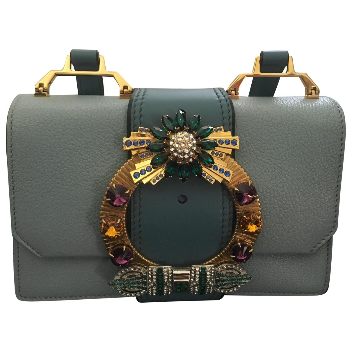 Miu Miu Miu Lady Blue Leather handbag for Women \N