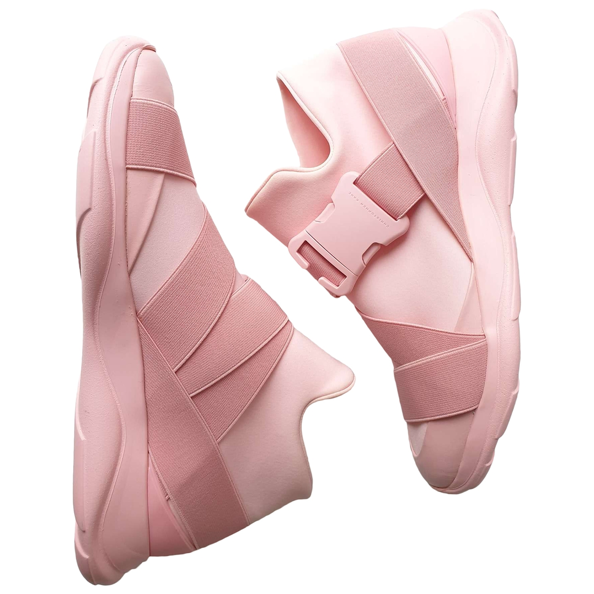 Christopher Kane \N Pink Leather Trainers for Women 40 EU