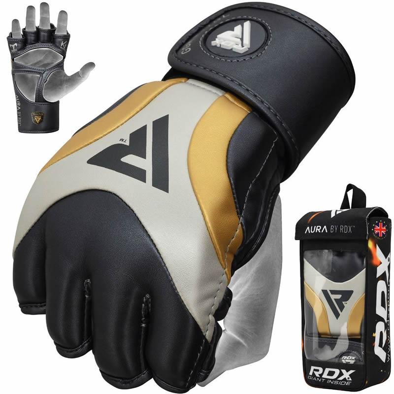 RDX T17 AURA MMA Grappling Training Gloves Gel Padded