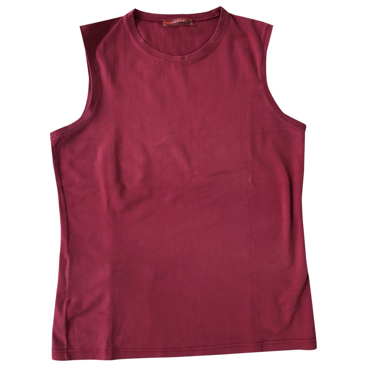 Prada \N Red Cotton  top for Women 42 IT