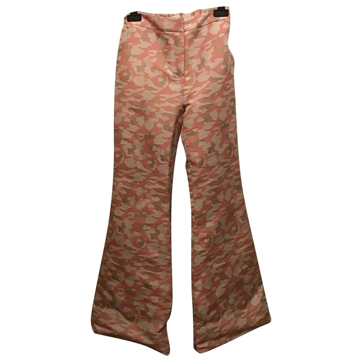 Au Jour Le Jour \N Pink Trousers for Women 40 IT