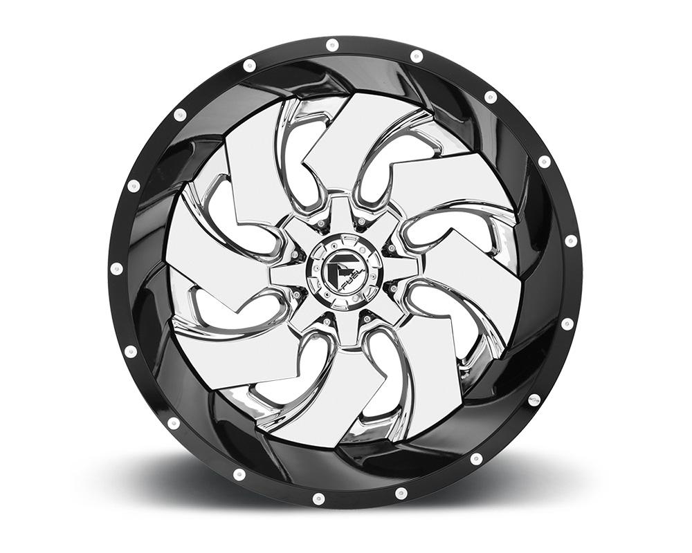 Fuel D240 Cleaver Chrome Center w/ Gloss Black Outer 2-Piece Cast Wheel 22x10 5x139.7 5x150 -13mm