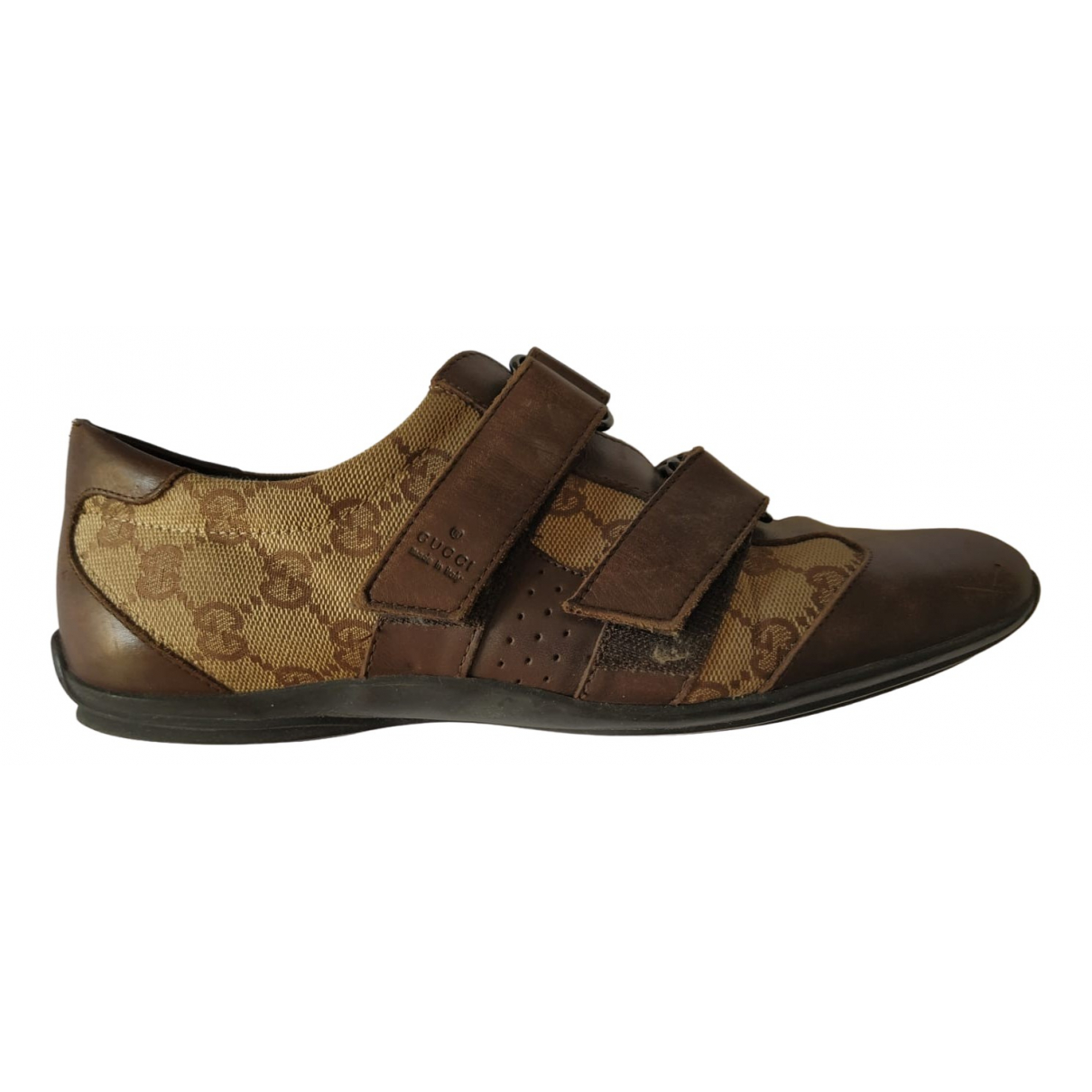 Gucci \N Brown Cloth Trainers for Women 37.5 EU