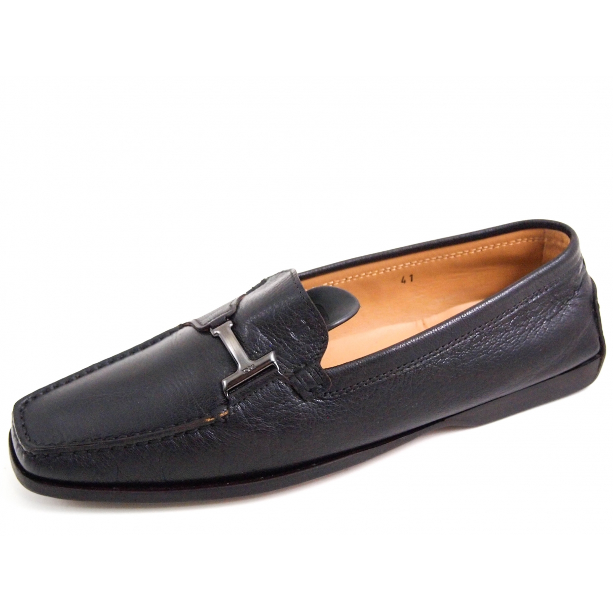 Tod's \N Brown Leather Flats for Women 41 EU