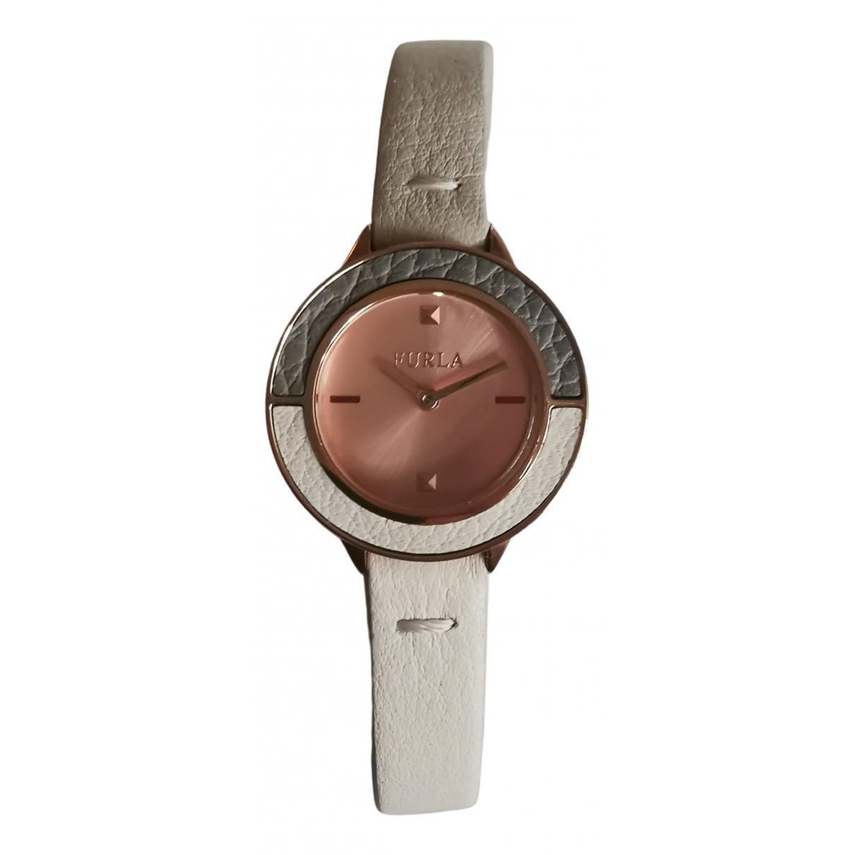 Furla \N Beige Steel watch for Women \N