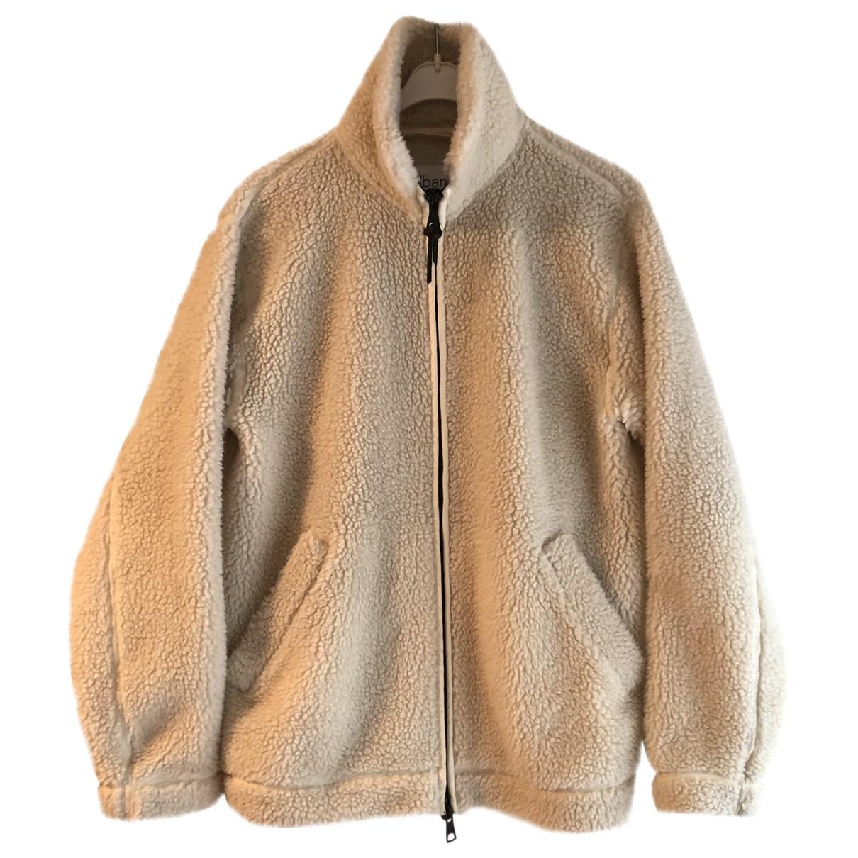 Non Signé / Unsigned Oversize Ecru Faux fur jacket  for Men M International