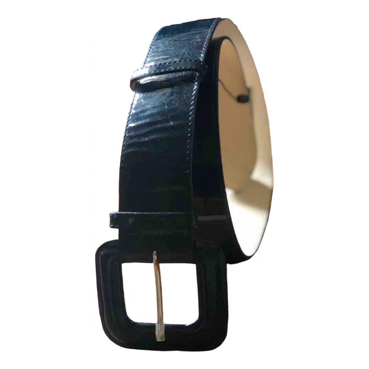 Lk Bennett \N Navy Patent leather belt for Women S International