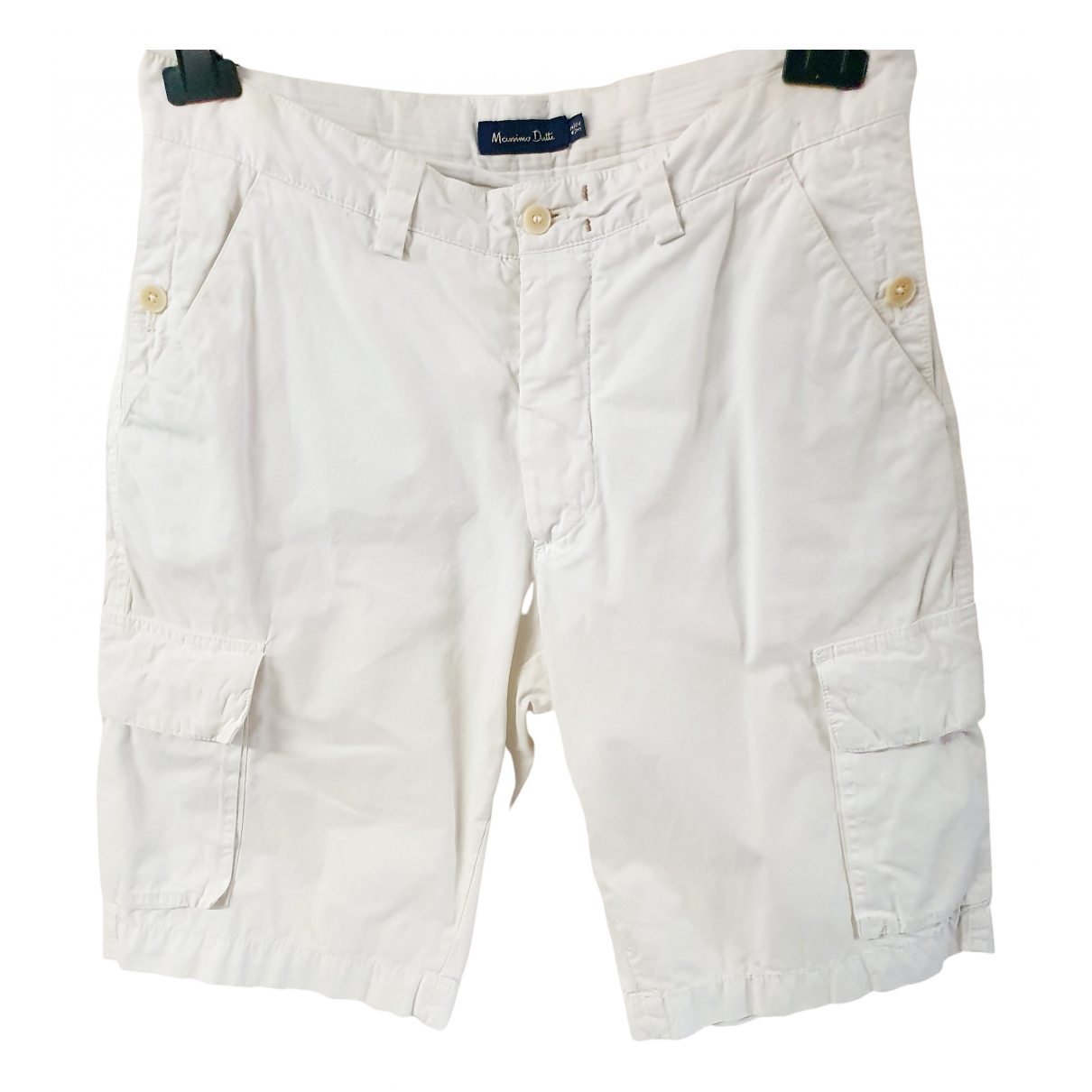 Massimo Dutti \N White Cotton Shorts for Men 42 FR
