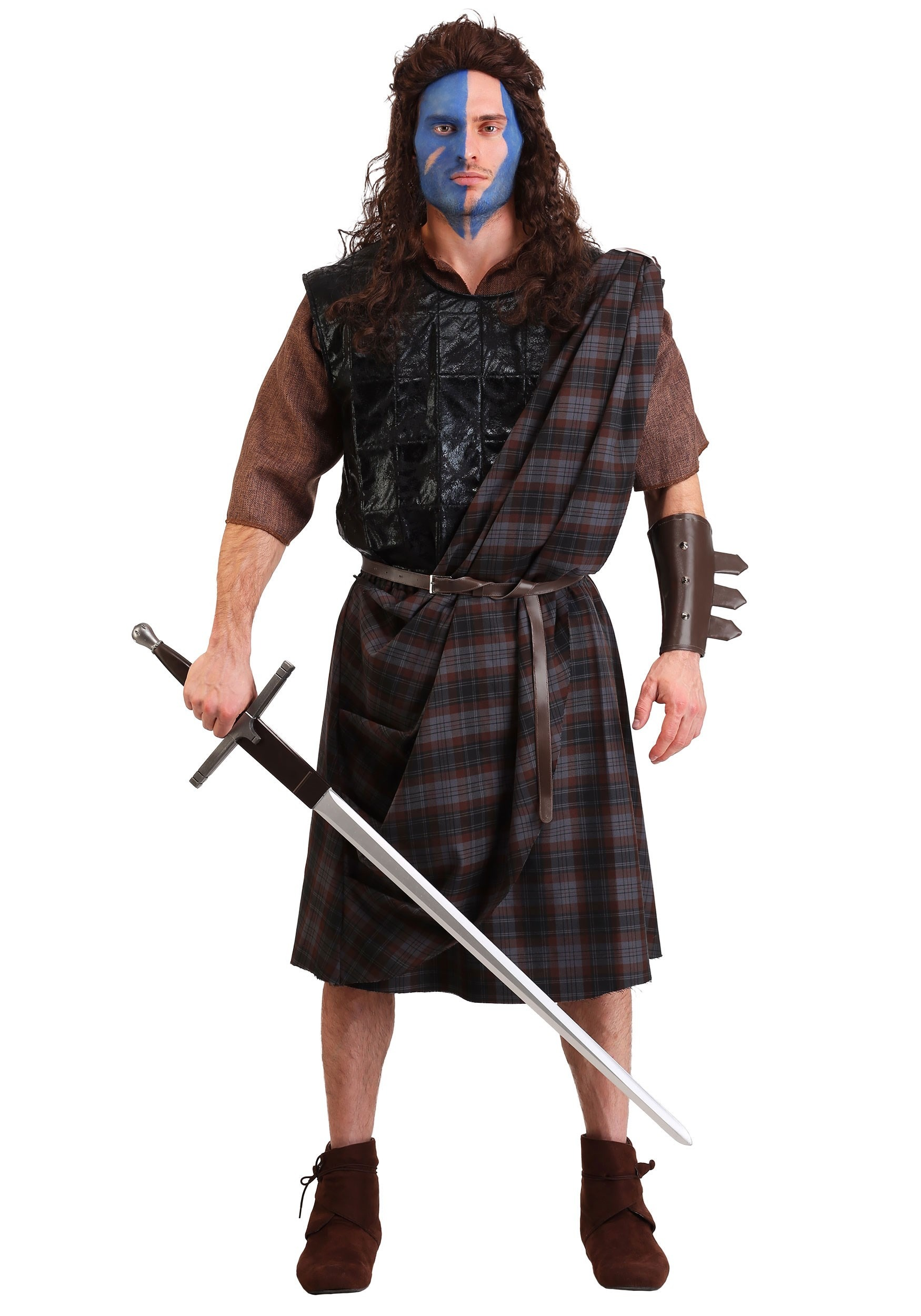 Men's Braveheart Classic Plus Size Costume