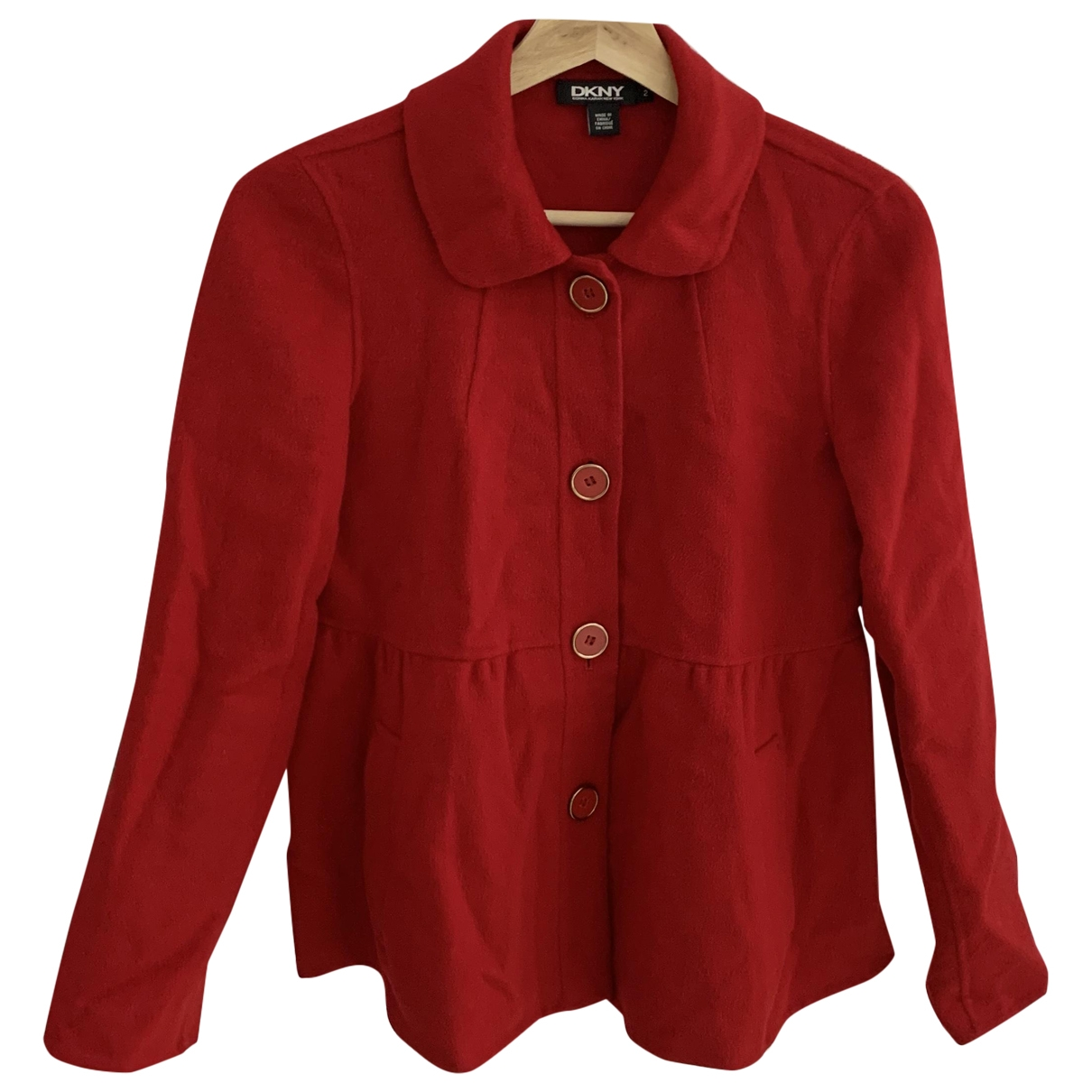 Dkny \N Red Wool jacket for Women 2 US