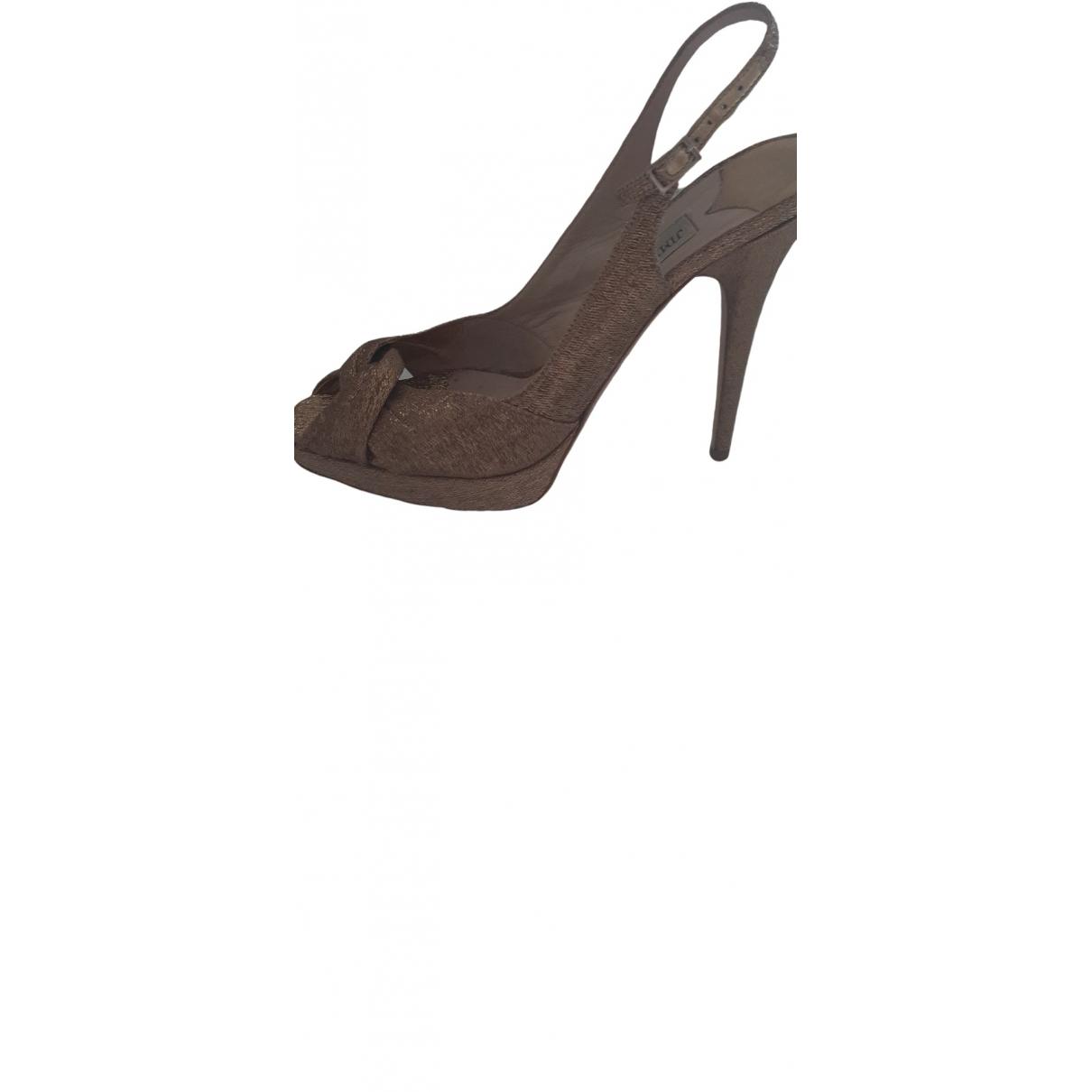 Jimmy Choo \N Gold Cloth Heels for Women 40 EU