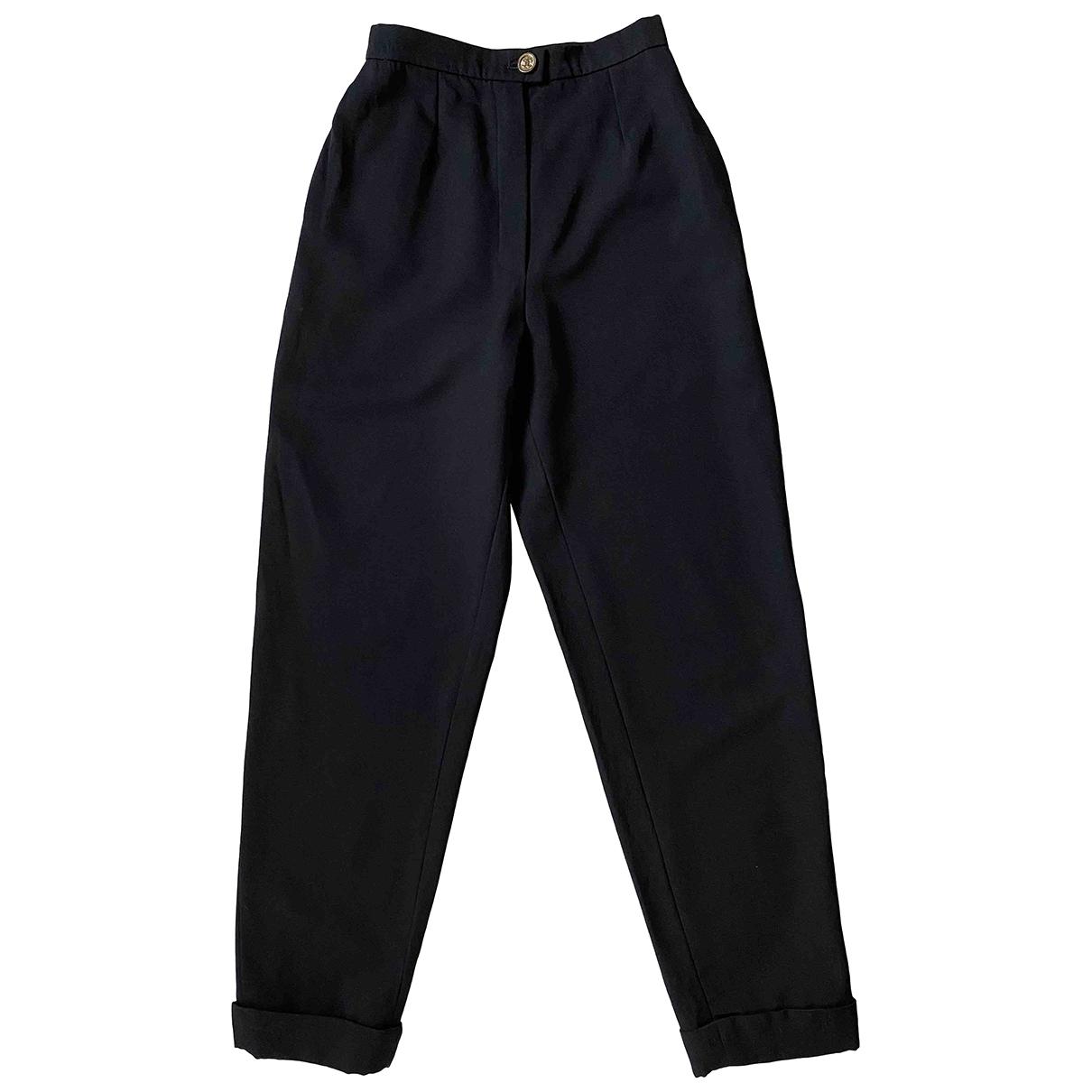 Chanel \N Black Wool Trousers for Women 34 FR