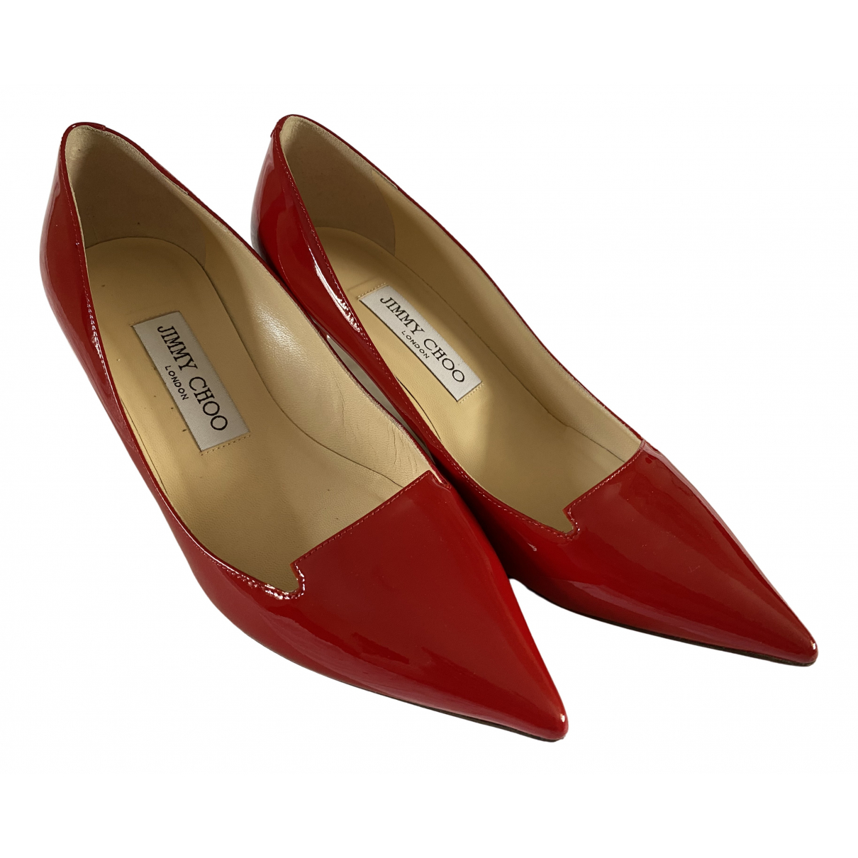 Jimmy Choo \N Red Patent leather Heels for Women 35.5 EU