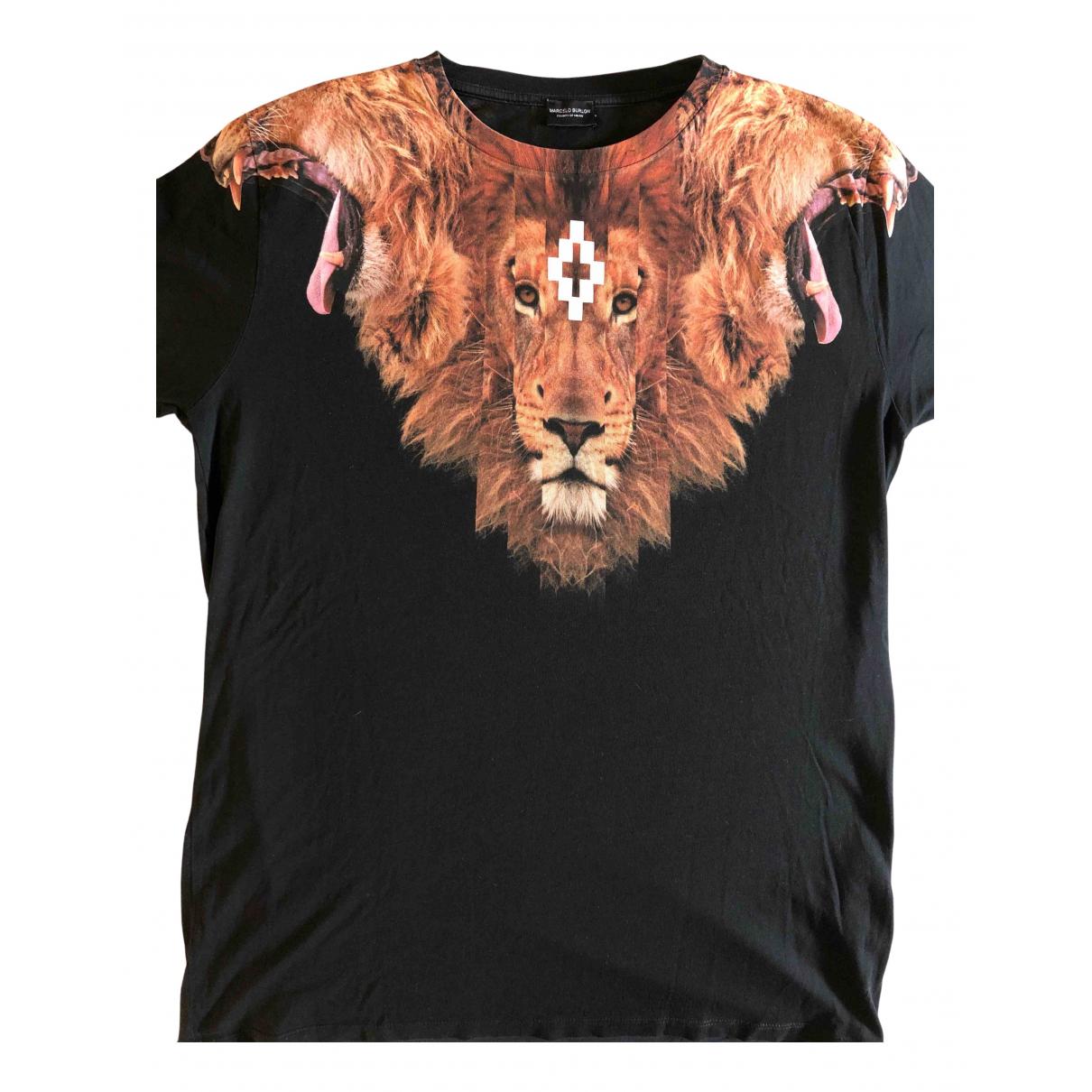 Marcelo Burlon \N Black Cotton T-shirts for Men S International