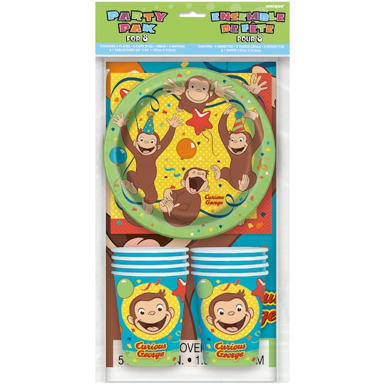 Curious George Party Tableware Kit For 8 By Unique   Michaels®