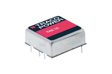 TRACOPOWER THN 15 15W Isolated DC-DC Converter Through Hole, Voltage in 18 → 36 V dc, Voltage out 15V dc