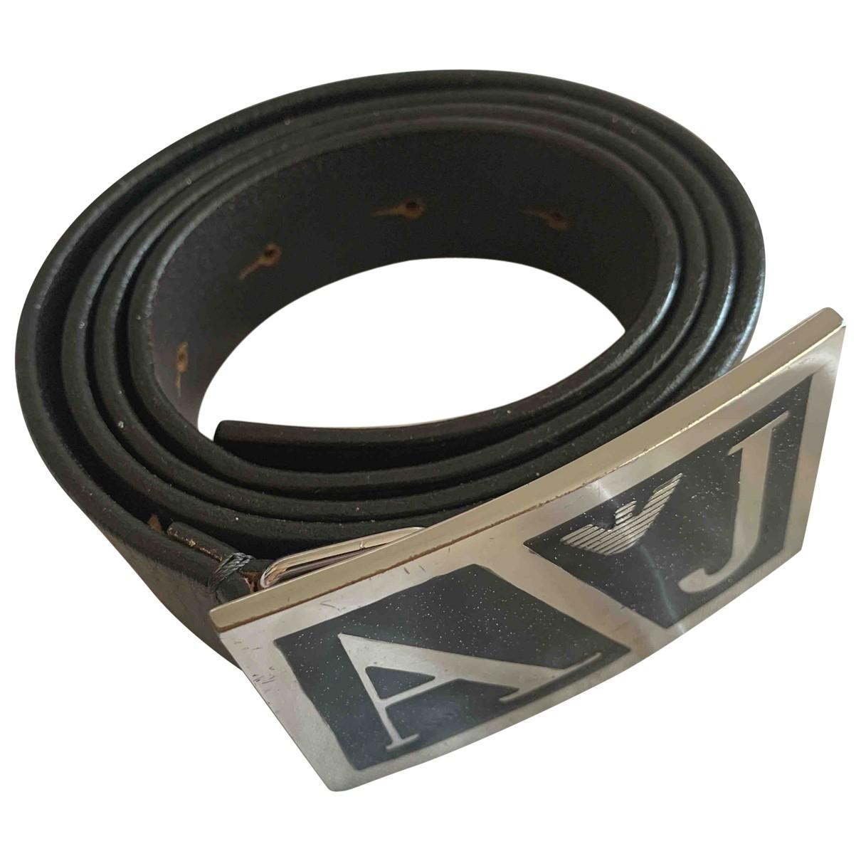 Armani Jeans \N Khaki Leather belt for Women 95 cm