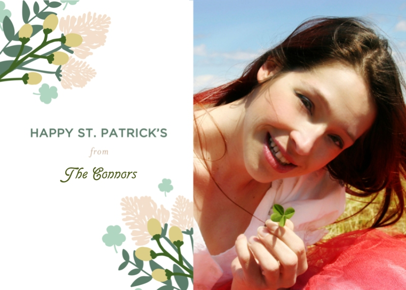 St. Patrick's Day Cards 5x7 Cards, Premium Cardstock 120lb with Scalloped Corners, Card & Stationery -Lucky Clover