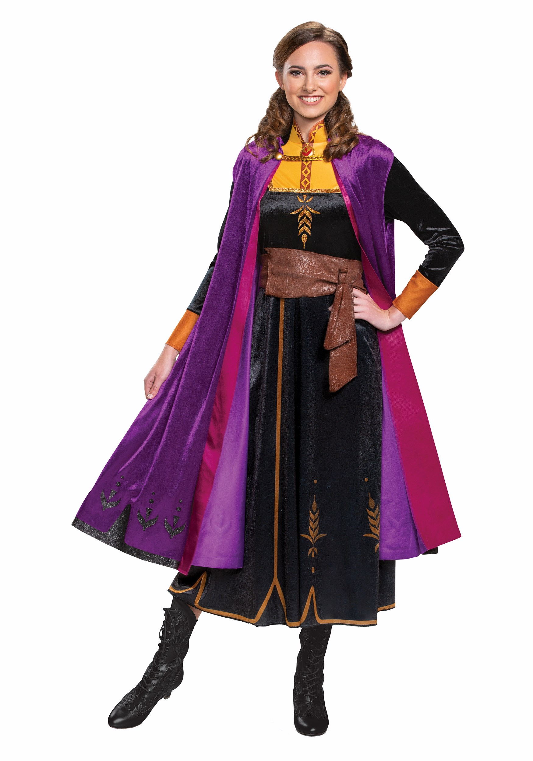 Deluxe Frozen 2 Anna Womens Costume   Disney Costume for Adults