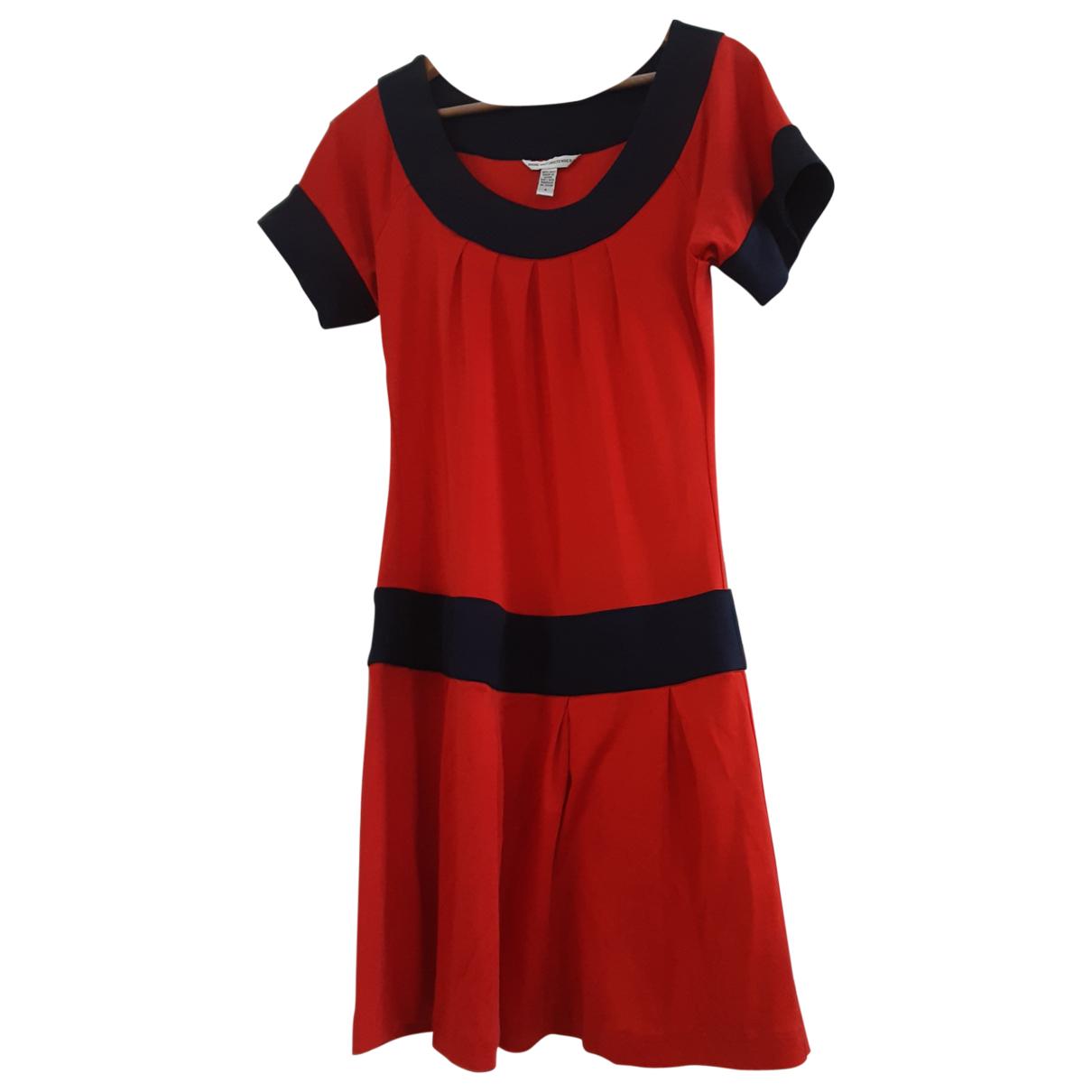 Diane Von Furstenberg \N Red Silk dress for Women 6 US