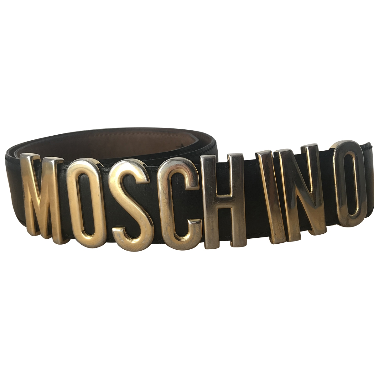 Moschino \N Black Leather belt for Women XS International