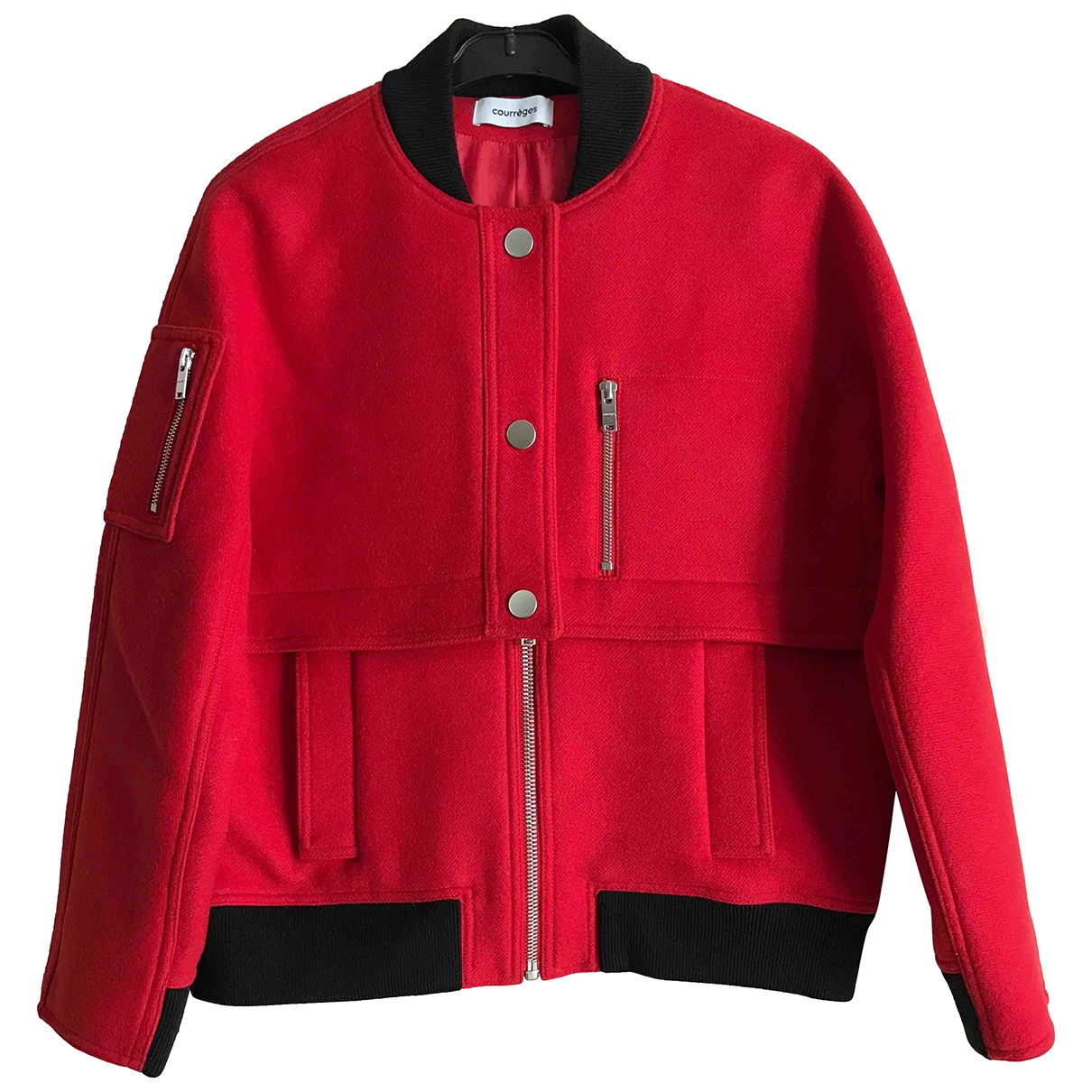 Courrèges \N Red Wool jacket for Women 38 FR