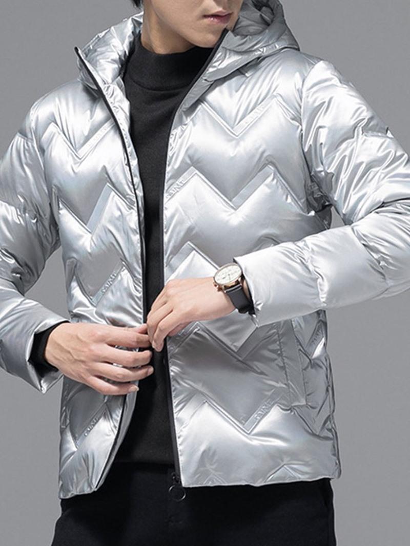 Ericdress Hooded Standard Plain Zipper European Men's Down Jacket