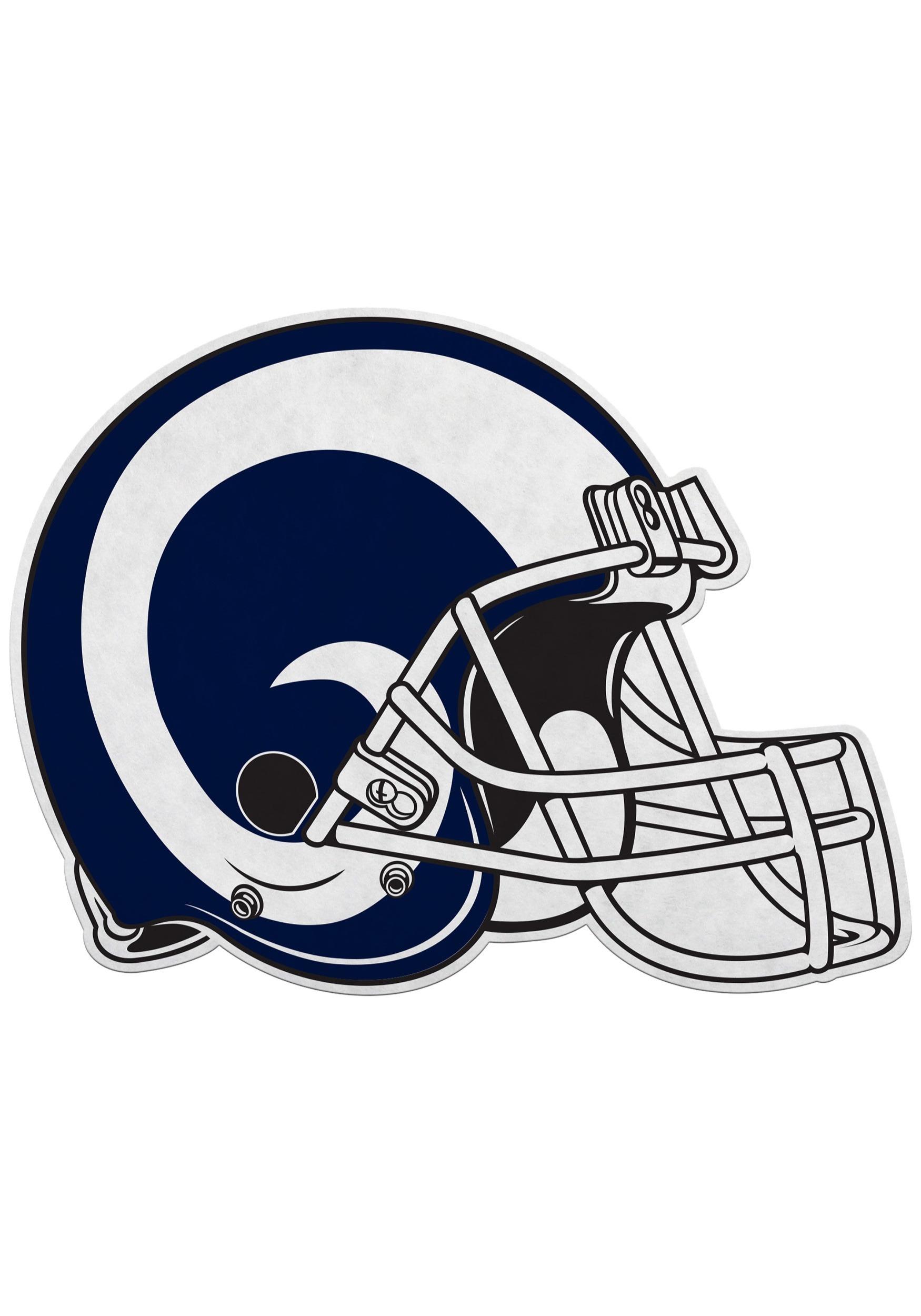 Los Angeles Rams NFL Die Cut Helmet Pennant