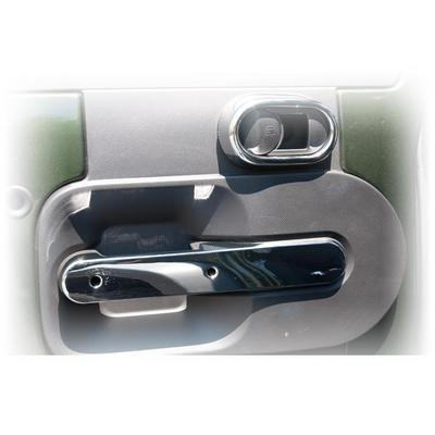 Rugged Ridge Full Door Interior Handle Cover Accents in Chrome - 11156.17