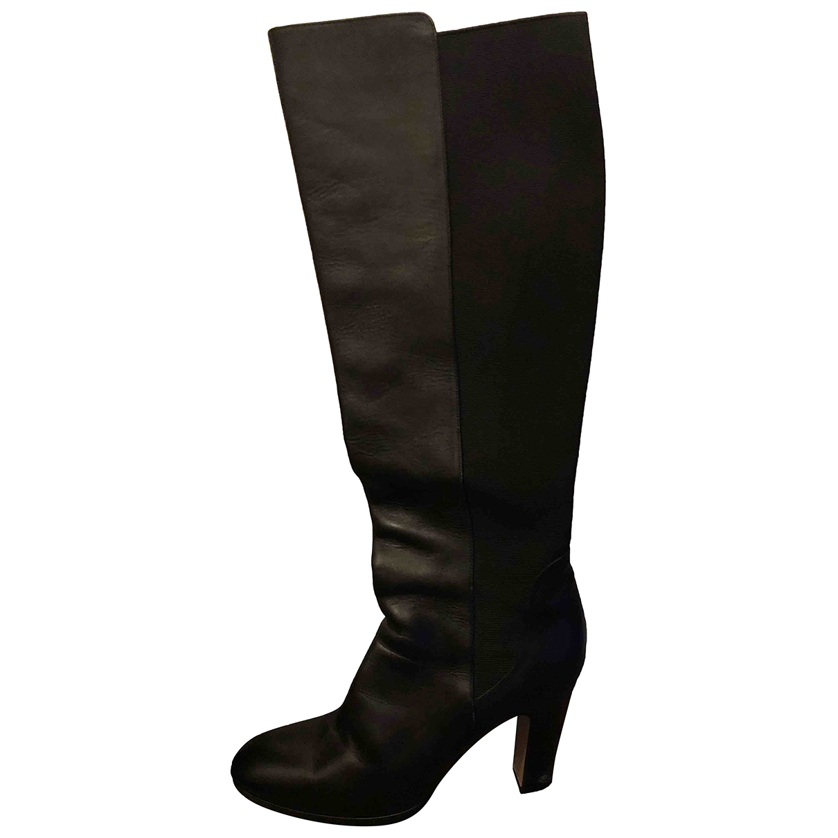 Max Mara \N Black Leather Boots for Women 40 EU