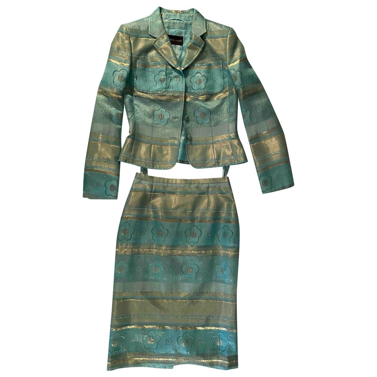 Rena Lange \N Turquoise Silk skirt for Women 38 IT