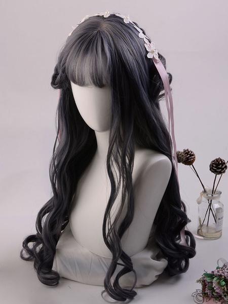 Milanoo Long Lolita Wig Heat Resistant Fiber Curly Lolita Hair Wigs