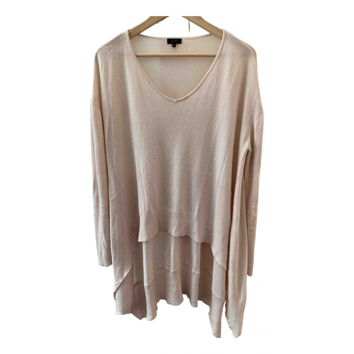 Non Signé / Unsigned Oversize Pink Cashmere Knitwear for Women One Size 0-5