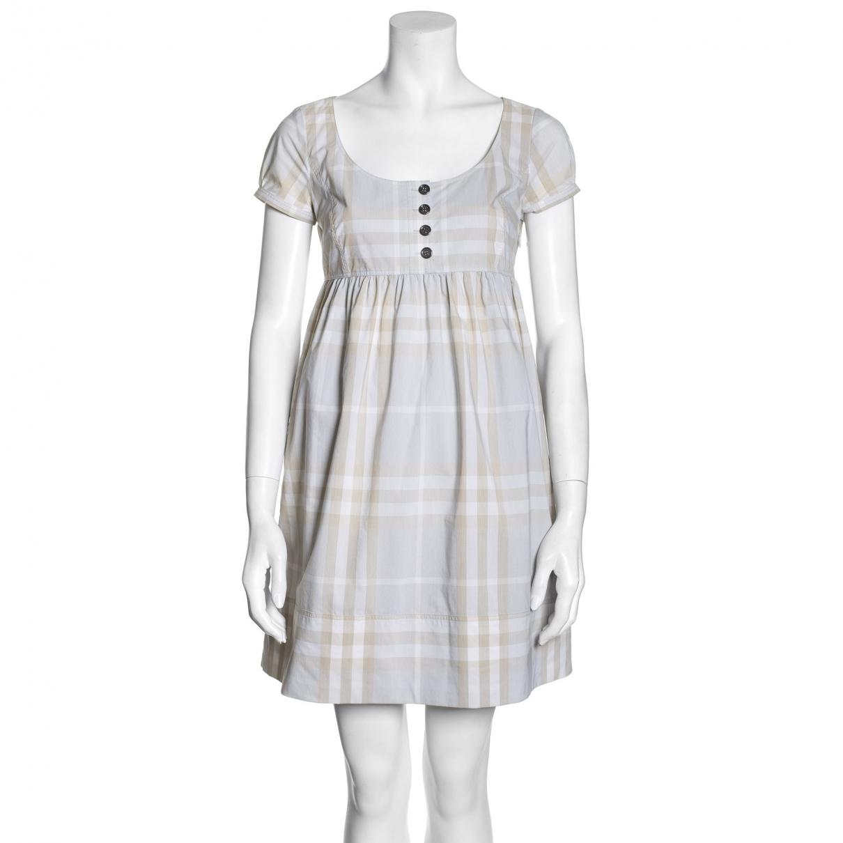Burberry \N Blue Cotton dress for Women XS International