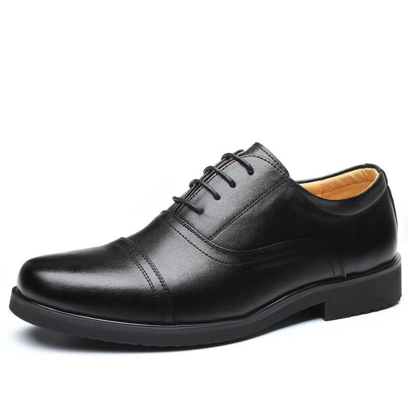 Men Classic Cap Toe Shoes Lace Up Formal Casual Shoes