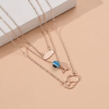 Cloud Charm Layered Necklace