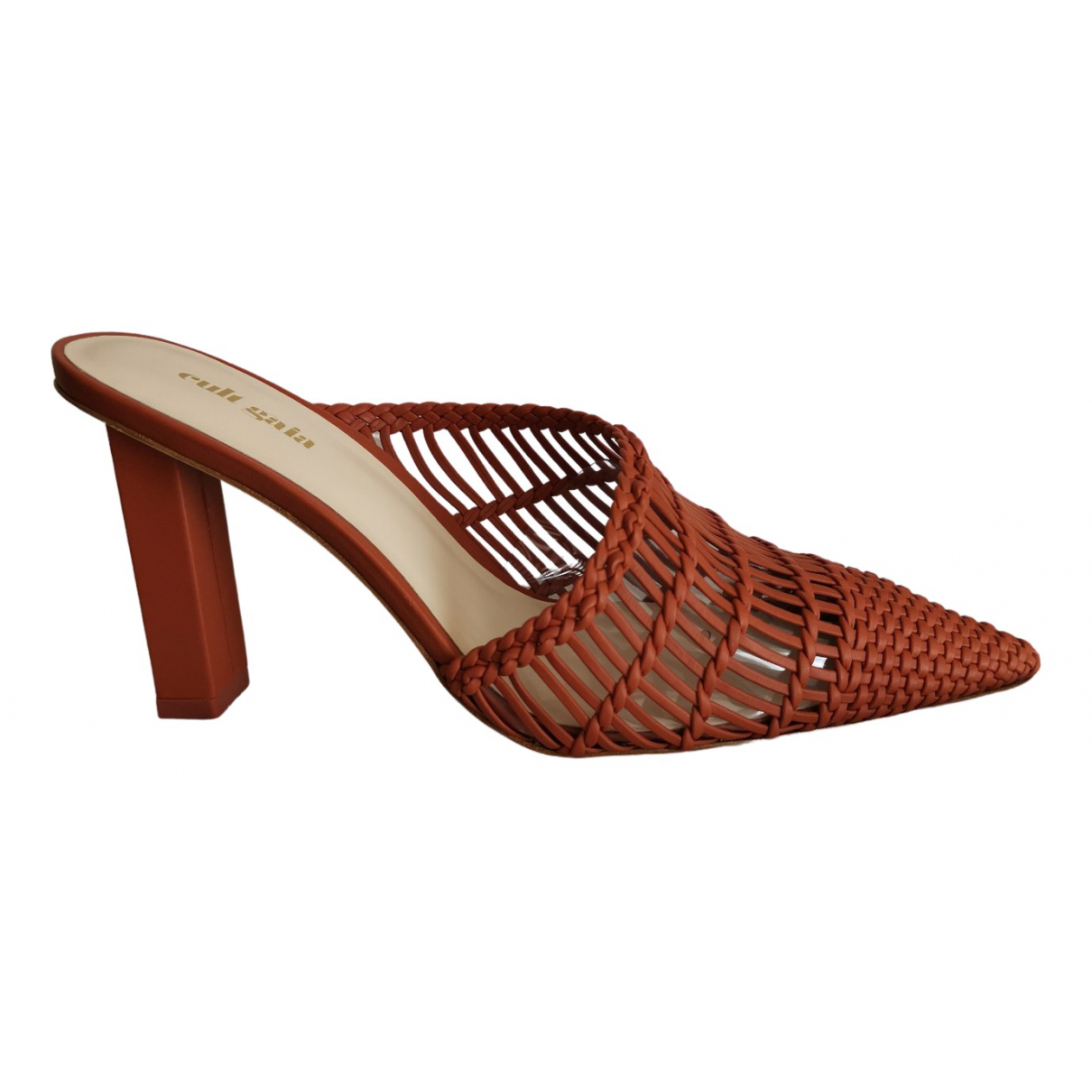 Cult Gaia \N Red Leather Mules & Clogs for Women 40.5 EU