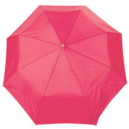 totes Three-Section Manual Umbrella, One Size , Pink